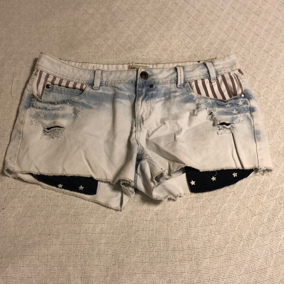 128e9058b8 YMI Shorts | Distressed American Flag Cut Off Denim | Poshmark
